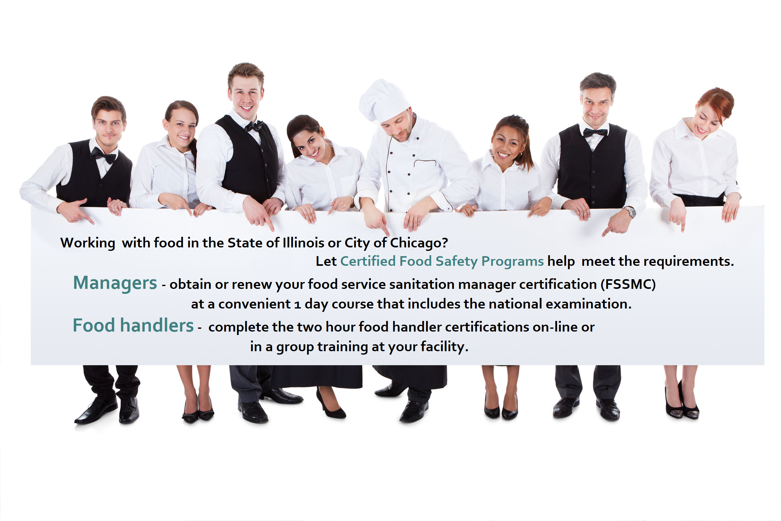 Food Service Sanitation Manager And Food Handler Certification In
